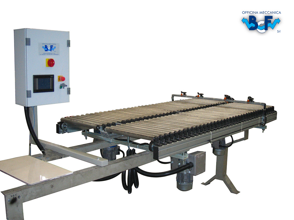 Electronic Tile Turner with Rolls and Rectifier | BCF Srl