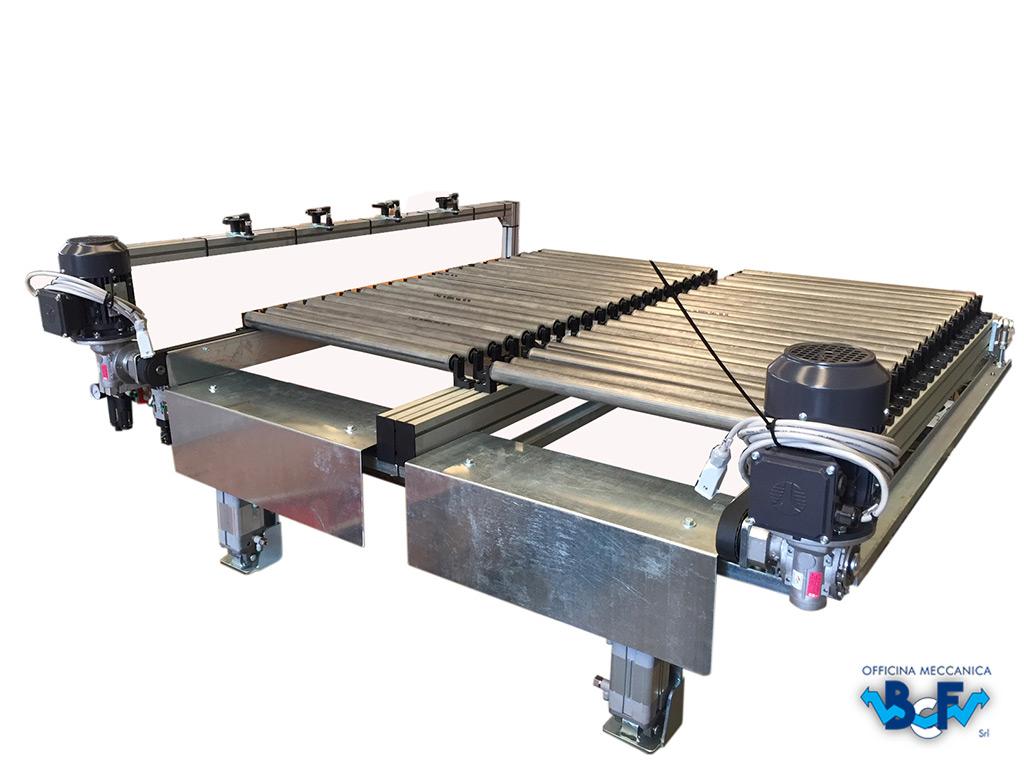 Expulsor Electrònico con Doble Transportador de Rodillos Simple   BCF Srl