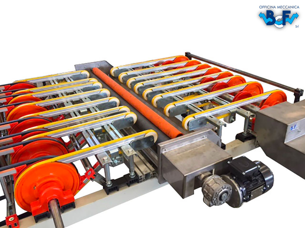 Motorized Engobing Machine with Approach Arms | BCF Srl